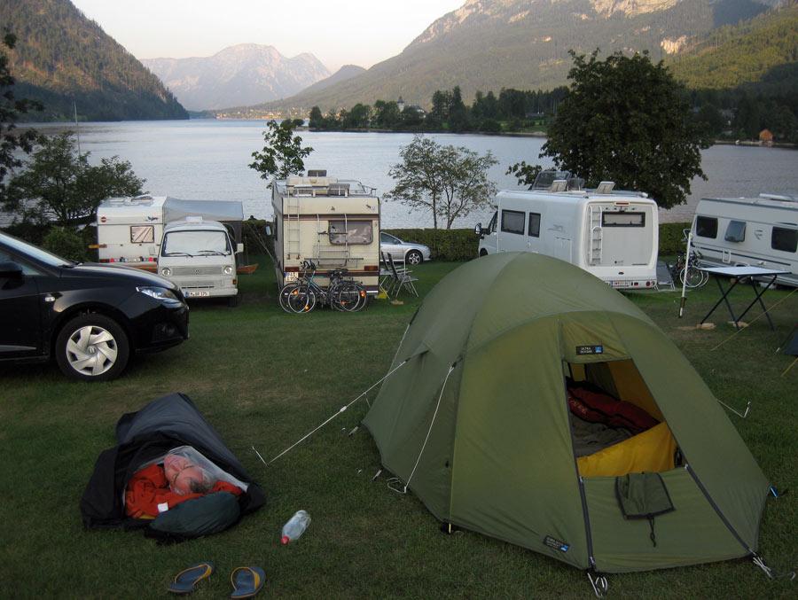 Totes Gebirgen Grundlsee camp and bivouac