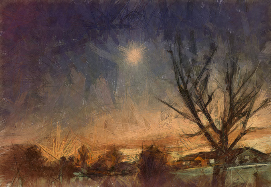 Moon and Tree Impression
