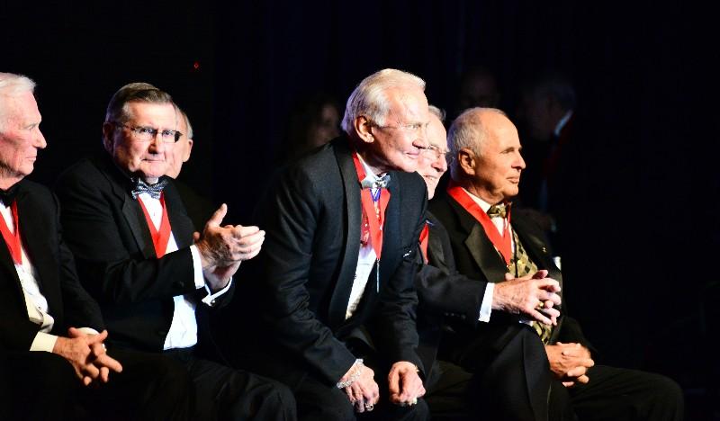 Gene Cernan, Dick Gordon, Buzz Aldrin, Jim Lovell, Bill Anders,, Museum of Flight Seattle