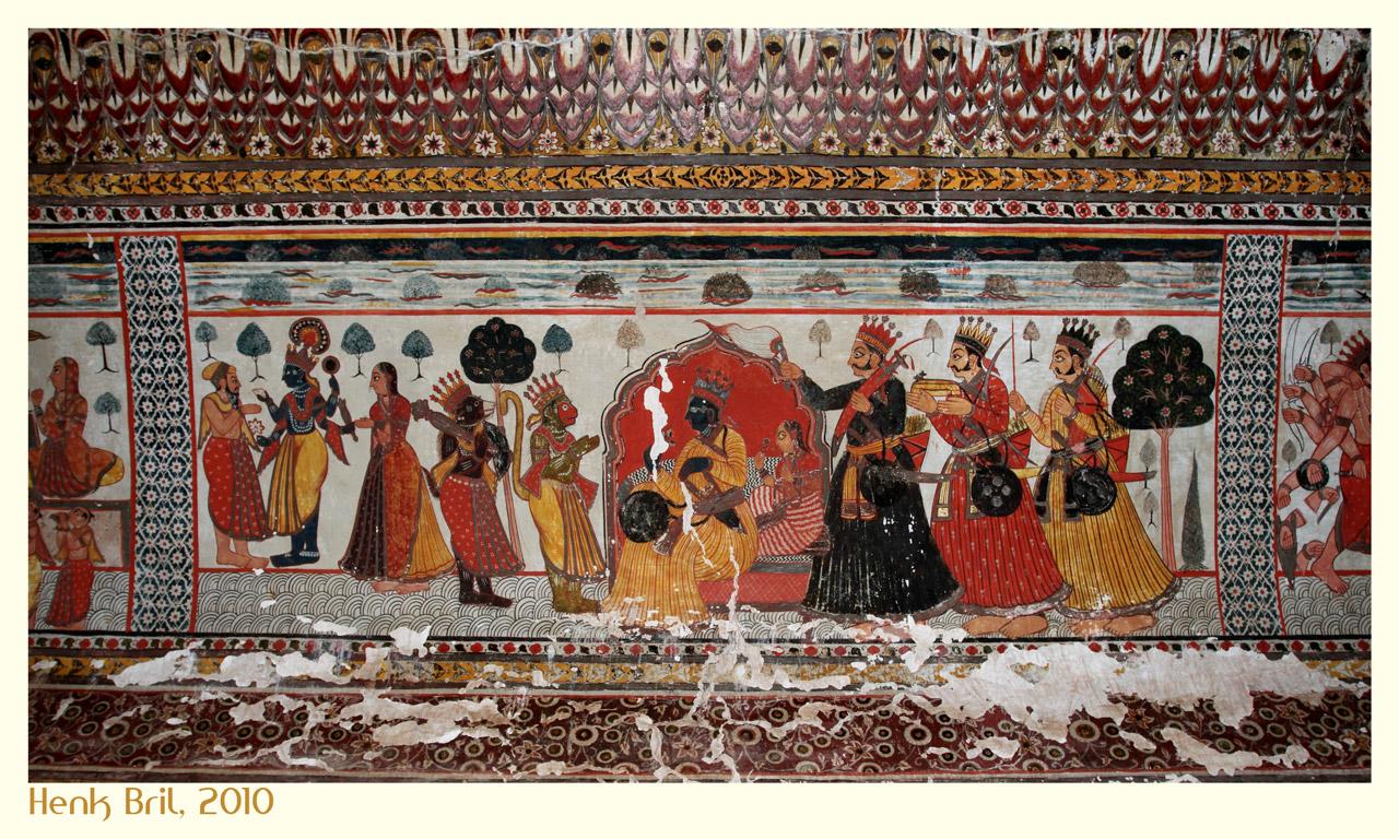 Wall Painting in the Jahangiri Mahal
