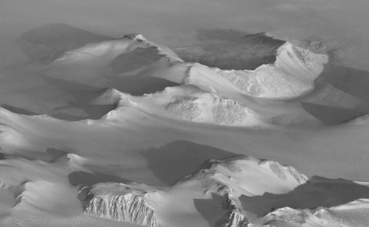 Greenland  through Light Fog