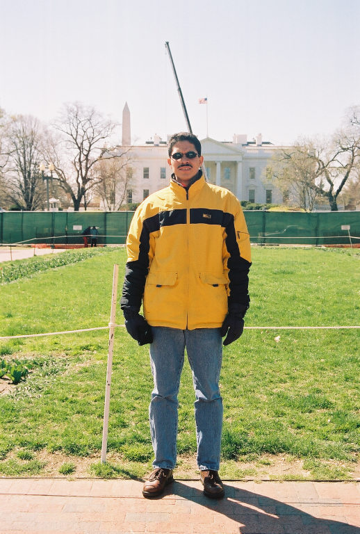 Frente a la Casa Blanca