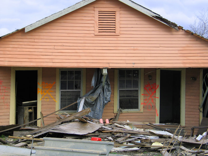 Lower Ninth Four and One Half Months After Hurricane  Katrina