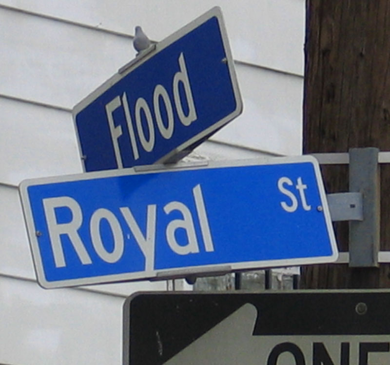 Ironic Street Sign in Devastated Area