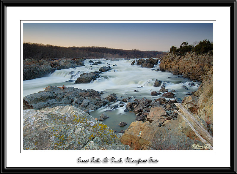 Great Falls At Dusk, Maryland Side.