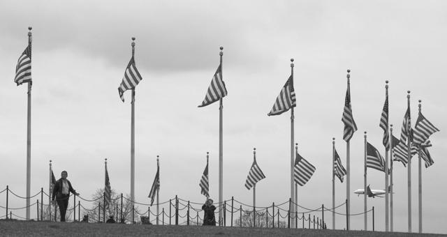 Flags Around The Washington Monument