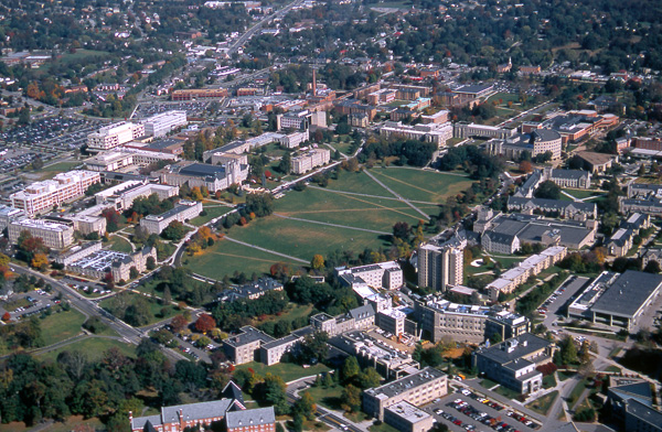 Virginia Tech Aerial Of Campus Photo Dave Petersen