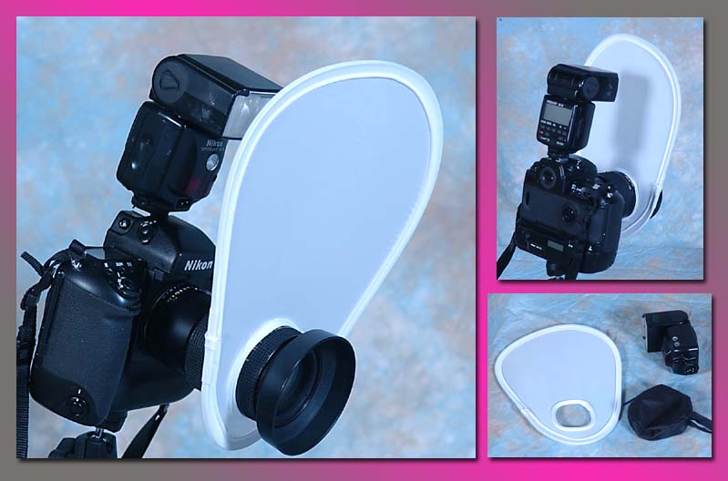 On camera pop-up diffuser for macro