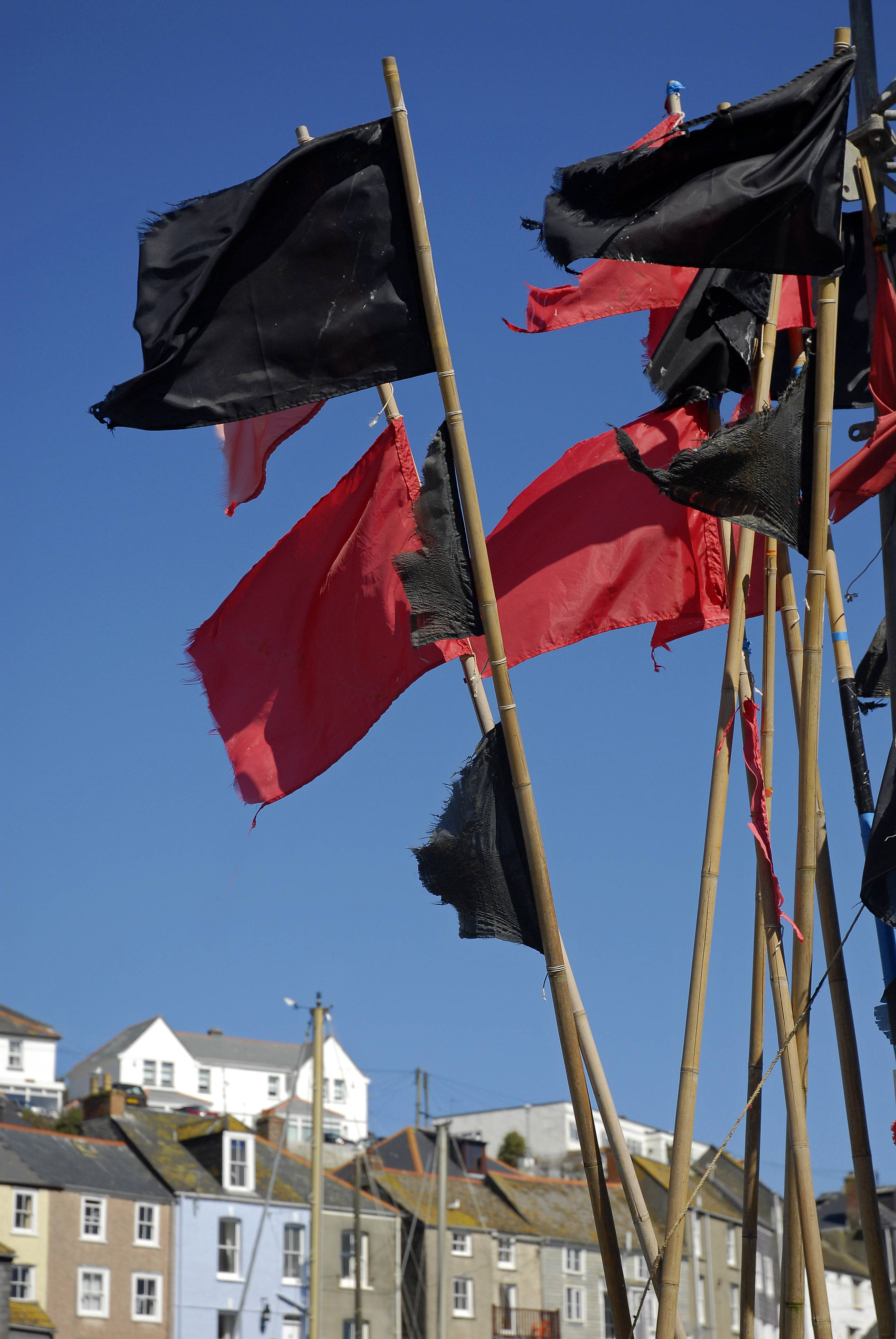 Lobster Pot and Fishing Net Marker Flags photo - Fred