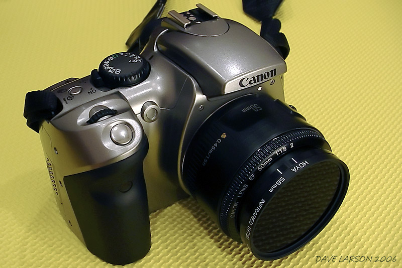 Canon 300D with 50mm f/1.8 Lens and Hoya R72 IR Filter
