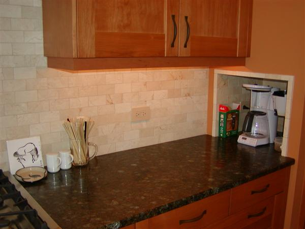 Does Anybody Have Have Crema Marfil Tile For A Backsplash