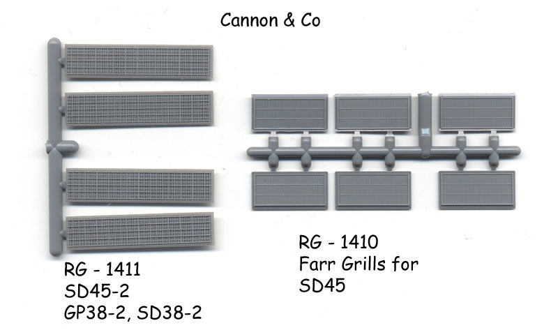 Cannon grills for SD45-2 & SD45 Farr Grills