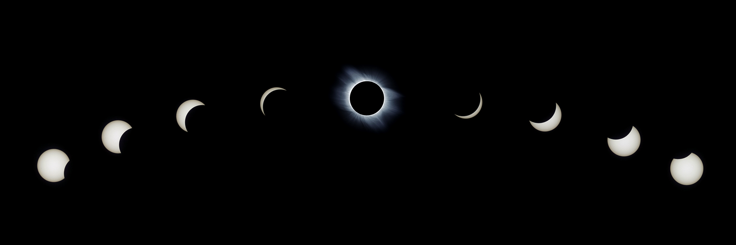 Time laps of whole eclipse