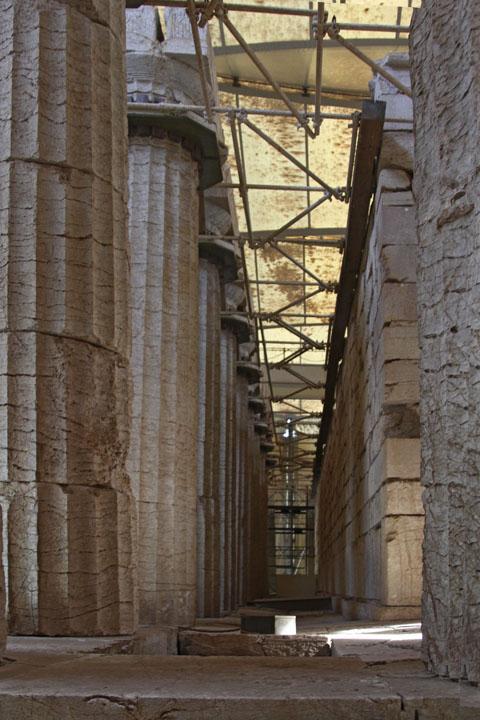 Bassai - Interior of Temple of Apollo.jpg