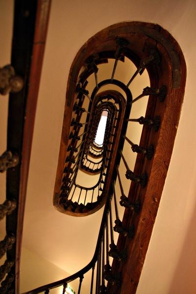 Parisian Hotel stairwell