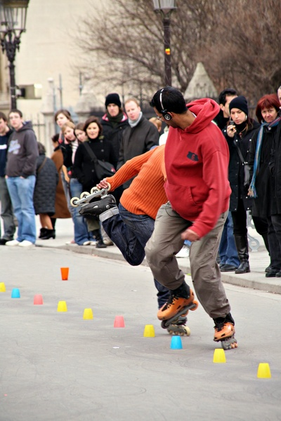 One-footed slalom