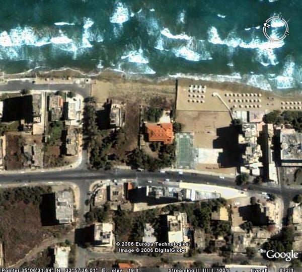 Google satellite image (800 feet) of Golden Seaside