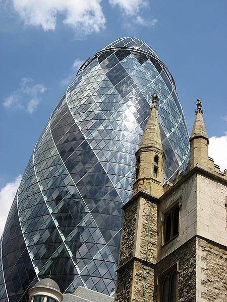 The Swiss Re (aka The Gherkin) tower in London