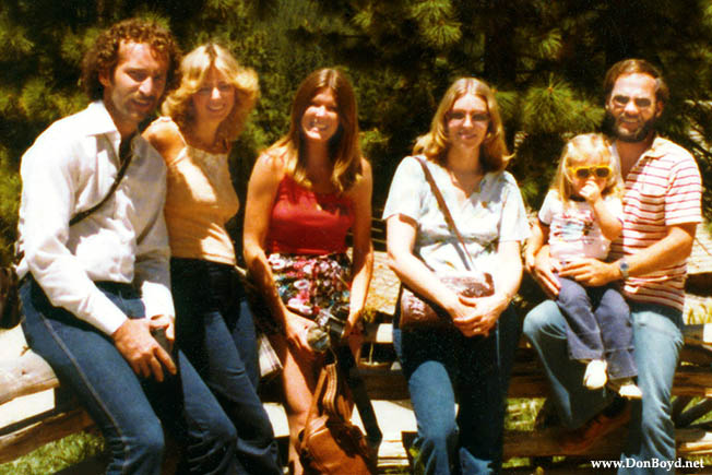 1979 - Butch and Sleet Eisenminger, Brenda Reiter, J. Boyd, Karen Dawn and Don Boyd at the Ponderosa Ranch