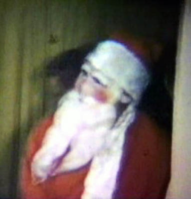 Charlis father in his Santa suit in the 1950s
