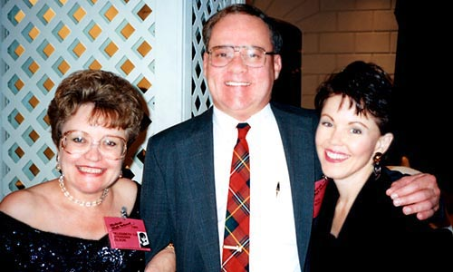 August 1995 - Liz Strasser Olson, Don Boyd and Pam Wolters Taylor at Hialeah Highs Class of 1965 30th Reunion