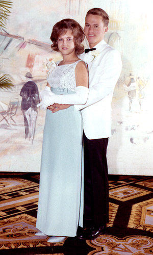 1965 - Mary Ann Knight and me at the Hialeah High Class of 1965 Senior Prom (details of the weekend below the image)