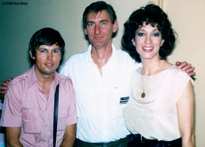 1988 - Ronnie, former WQAM disc jockey Jim Catfish Dunlap and beautiful Lynne Russell, former CNN Headline News anchorwoman
