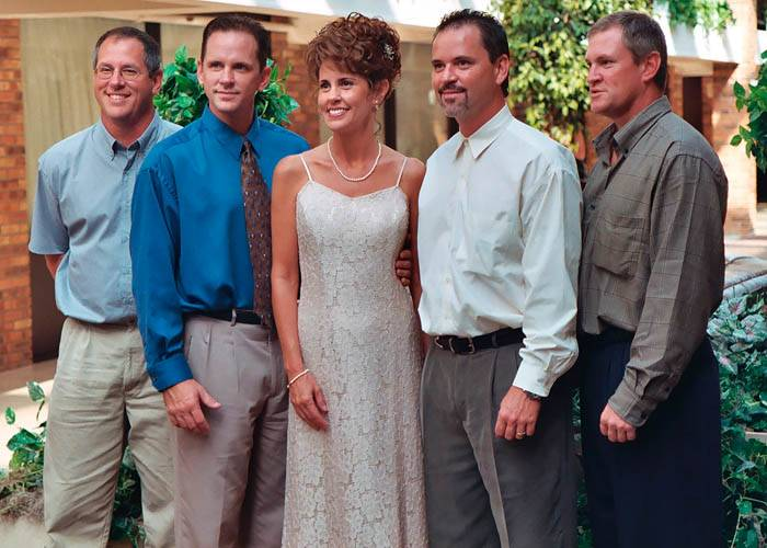 Kathy and her brothers Michael, Kevin, Perry and Eric, photo #018_15