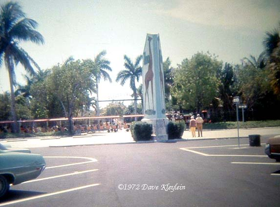 1972 - the entrance to the Crandon Park Zoo on Key Biscayne