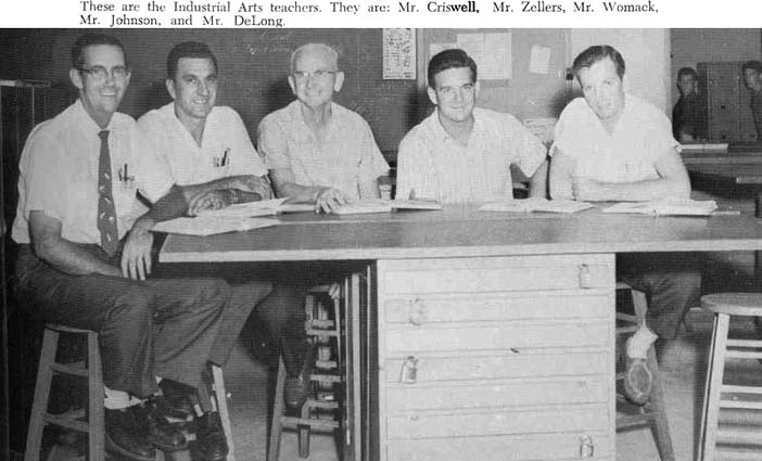 1961 - Karens father James Criswell and fellow industrial arts teachers at North Miami Senior High School