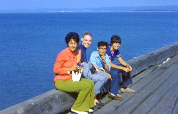 1970 - Theresa Kayal, J. Boyd, Gene Little Gene Kayal and his cousin Toni