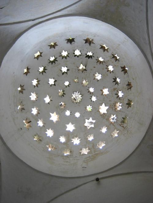 ceiling in dervish (sufi muslim) monastery at blagaj, near mostar