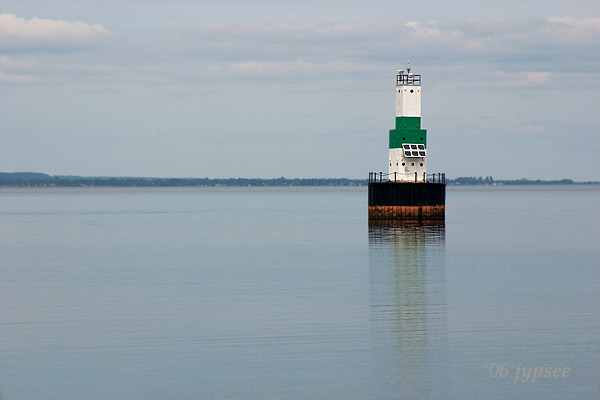 channel light in the harbor