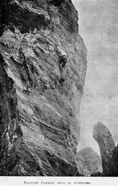 François Cazalet dans la face Sud du Capéran de Tortes