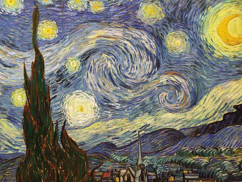 Vincent van Gogh  : The Starry Night  - 1889