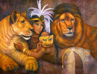 Babylon lion Goddess