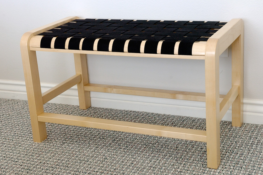 Woven Seat Bench