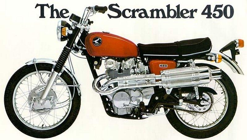 1969 Honda 450 Scrambler