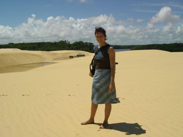 On the dunes of Lençois Maranhences, Brazil