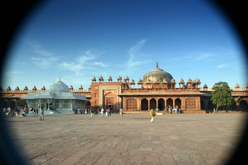 View through 3 filters, Fatehpur Sikri, India