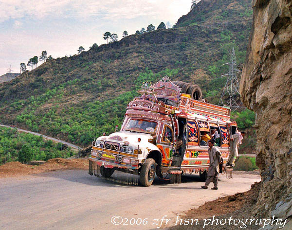 Kotli bus heading to Mirpur near Rajdhani