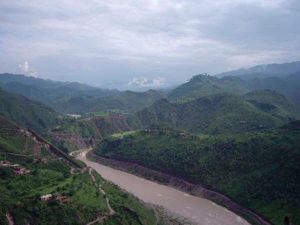 Kotli river frm other side