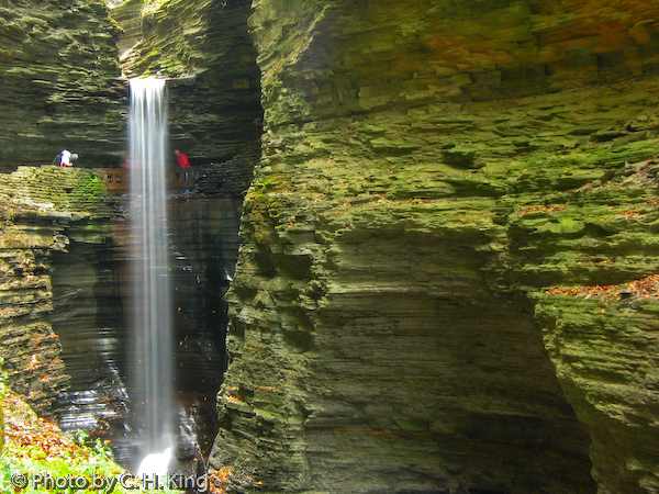 Cavern Cascade Falls - Watkins Glen State Park
