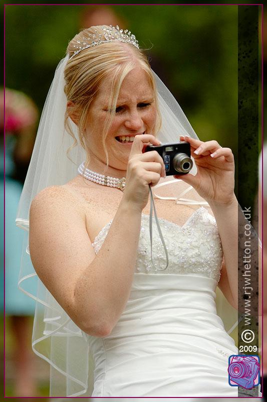 Helen taking photograph