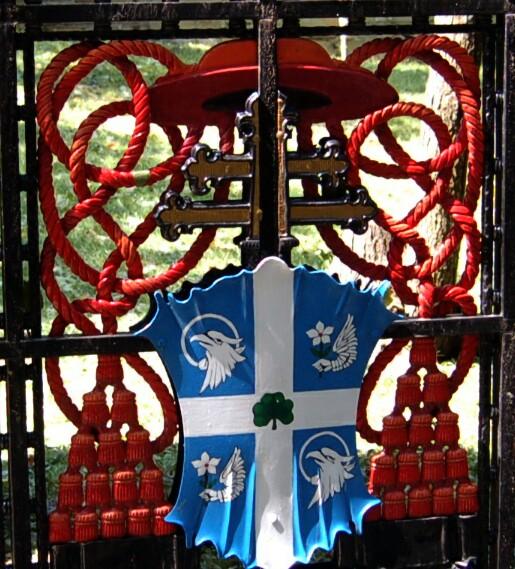 Clearly, an Irish cardinals coat of arms