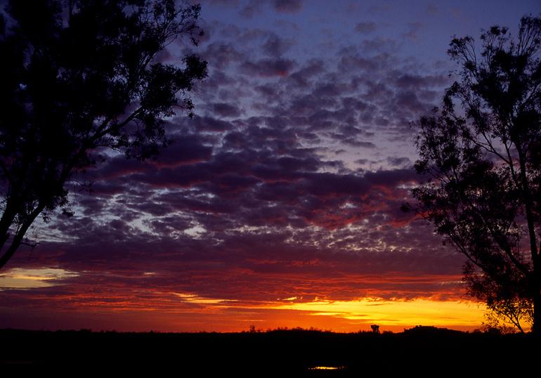 Sunset near De Grey