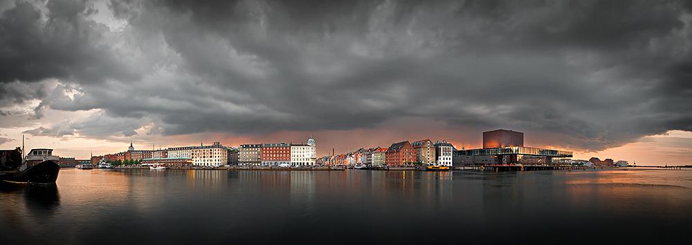 Copenhagen Harbour Storm Panorama