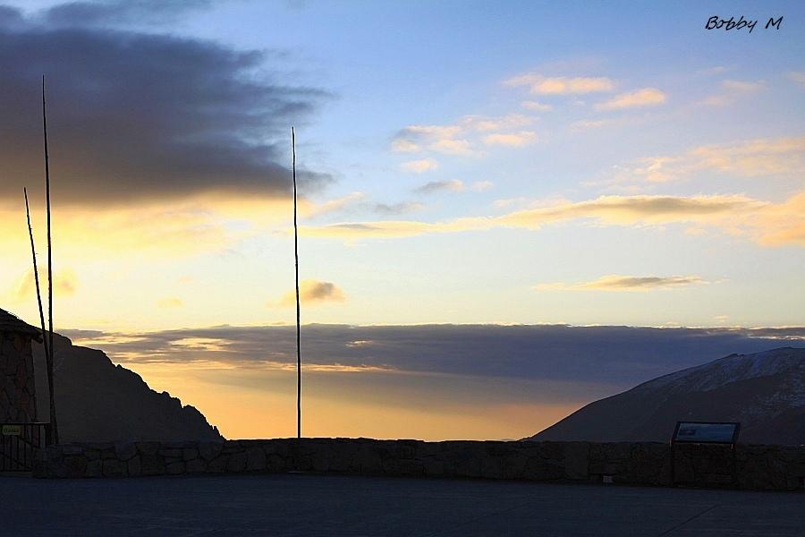 Mountain pre-sunrise