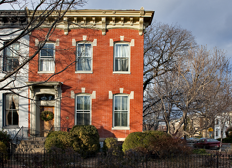 The really red brick house