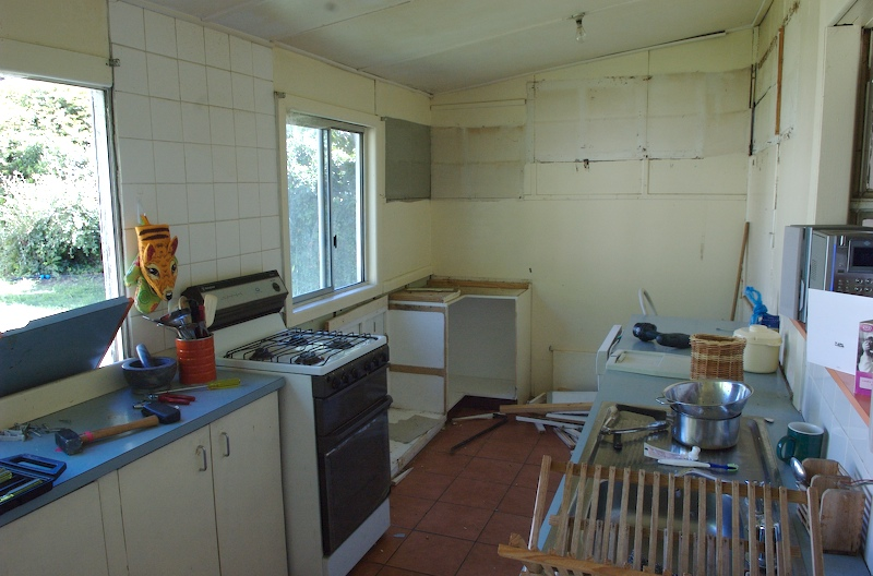 the kitchen starts to disappear